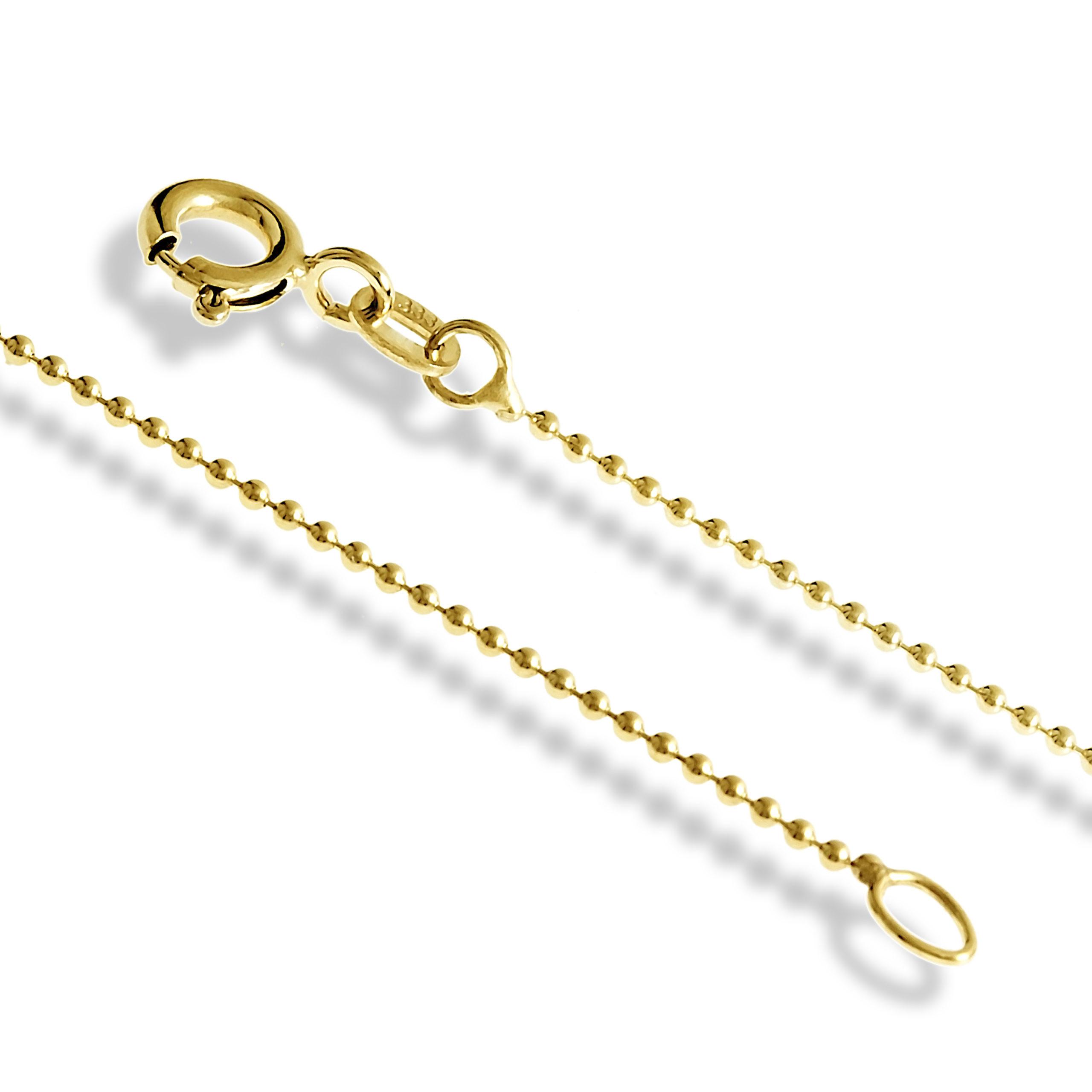 echt goldkette 333 kugelkette oder goldarmband 19 21 40 42 45 50 55 60 cm ebay. Black Bedroom Furniture Sets. Home Design Ideas